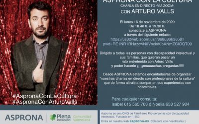 Asprona con la Cultura. Arturo Valls